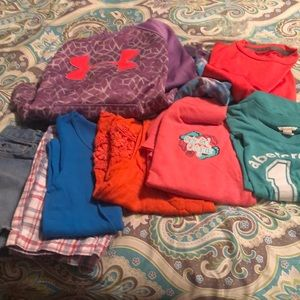 Girls size small and 6x/7 play clothes.